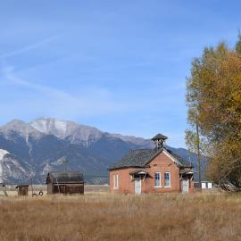 A photo of the Gas Creek School near Nathrop in Chaffee County