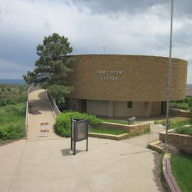 A photo of the Far View Visitor Center in Mesa Verde National Park