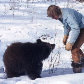 John Denver with Bear Cub